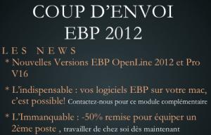 Coup d'envoi des versions EBP 2012
